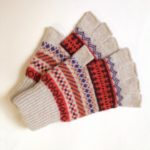 Lambswool Fingerless Gloves in Marigold