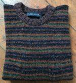 Pure Wool Unisex Stripy Sweater Autumn