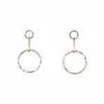 Jodi Drop Hoops Medium Earrings