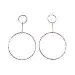 Jodi Drop Hoops Large Earrings