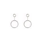 Jodi Drop Hoops Earrings