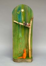 Hand Carved Wood  'High Hopes'