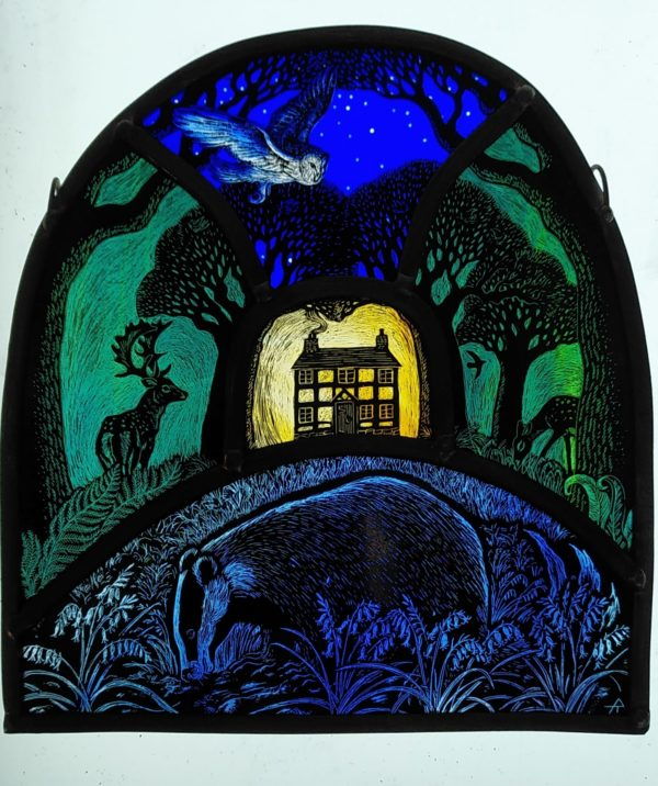 'Bluebell Magic Stained Glass Panel