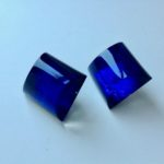 Acrylic Clip Earrings in Azure