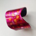 Acrylic Burgundy Spot Cuff