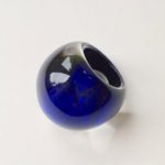 Acrylic Domed Ring in Azure