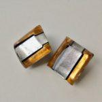Acrylic Barrel Stud Clip Earrings