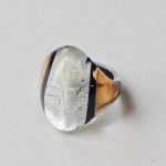Acrylic Oval Ring in Gold & Silver