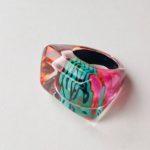 Acrylic Rectangular Bevel Ring