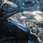 'The Deep - Humpback Whales' Cushion