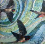'A Trio of Swallows' Cushion
