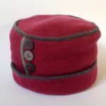 Felted Merino Wool Button Hats