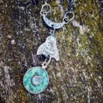 Silver Bee Pendant with Turquoise