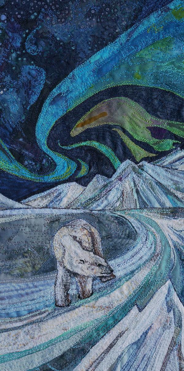 'Textile Embroidery 'Arctic Adventure'