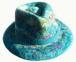 Fedora Hat in Aqua