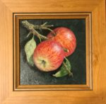 Two Apples  Original in Oil