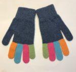 Lambswool Gloves in Denim