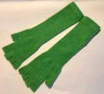 Lambswool Long Fingerless Gloves Mint