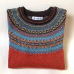 Lambswool Eribe Alpine Sweater in Pheasant