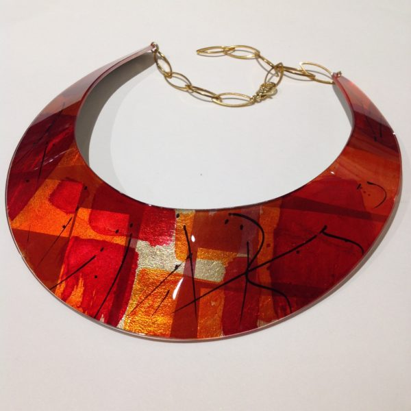 Acrylic Fire Collar Red