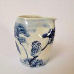 Porcelain Pinch Pourer 'Owls'