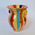 Striped Rose 'Handle' Vase