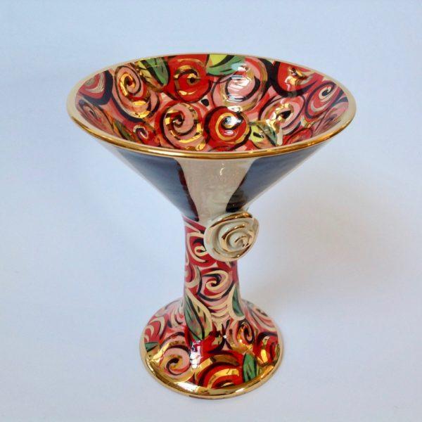 Martini Goblet in Rosebush