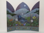 Hand Painted triptych 'A Time of Hope'