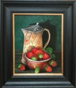 'Victorian Water Jug and Strawberries'