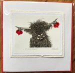 Handmade Valentine's Card 'I love Moo'