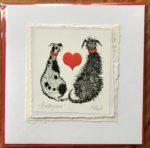 Handmade Valentine's Card 'Puppy Love'