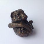 Resting Dormouse Sculpture