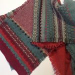 Alba Fringed Scarf in Old Rose