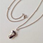 Large Silver Acorn Pendant