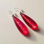 Acrylic Earrings in Zingy Pink