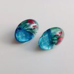 Acrylic Oval Domed Studs