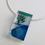 Acrylic Oblong Block Necklace