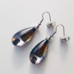 Acrylic Pear Drop Earrings