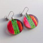 'Acrylic Flat Disc Earrings