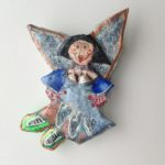Papier-Mâché Angel Brooch