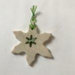 Raku Hanging Star Green