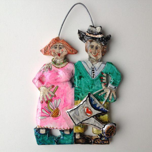 'Gardening Couple Hang Up'