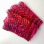 Scalloped Wrist Warmers - Magenta
