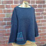 Calypso Tunic Sweater in Graphite