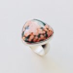 Silver and Trillion Ocean Jasper Ring