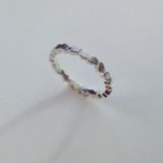 Frosted Silver Single Wing Ring