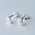Silver Freeform Wing Studs Tiny