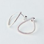 Frosted Silver Wing Studs Medium