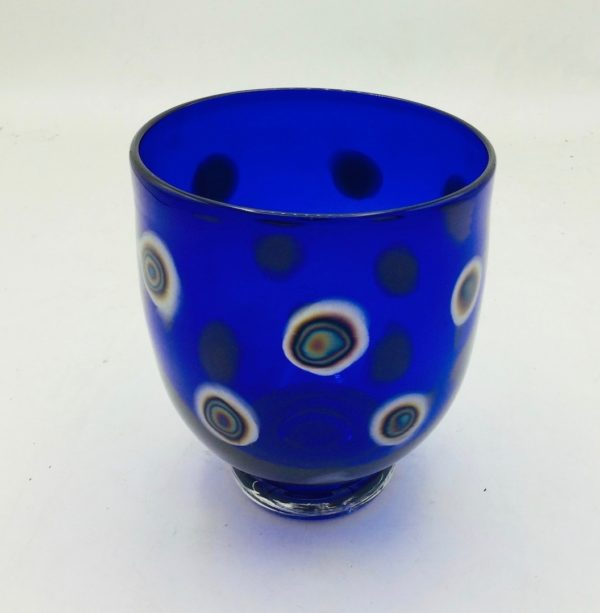 Cobalt Blue Metallic Spot Bowl
