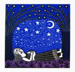 Lino-Cut Woman Dreaming